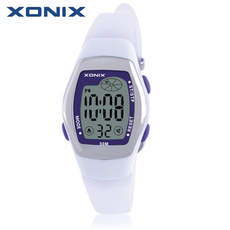 Hot XONIX Fashion Women Sports Watches Waterproof 50m Ladies Jelly Digital Watch Swimming Diving Reloj Mujer