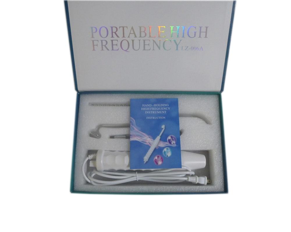 Offre spéciale Portable Derma électrothérapie haute fréquence avec 4 baguette de rayon Violet livraison gratuite