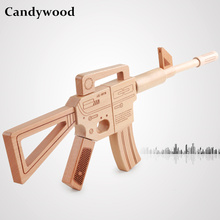 Candywood High quality Classic Toy Assembly Wooden toy Gun Rifle Pretend Play Toy gun for children kids boy girl fighting game