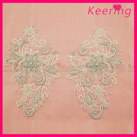 Exclusive Design Beautiful Handmade Beaded Decorative Patches For Clothing WRA 658 L