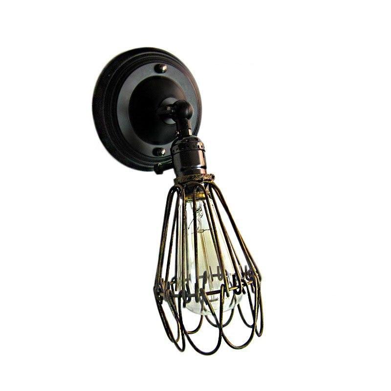 Lâmpadas de Parede para cozinha do restaurante quarto Modelo Número : Retro Small Iron Cage Wall Lamp