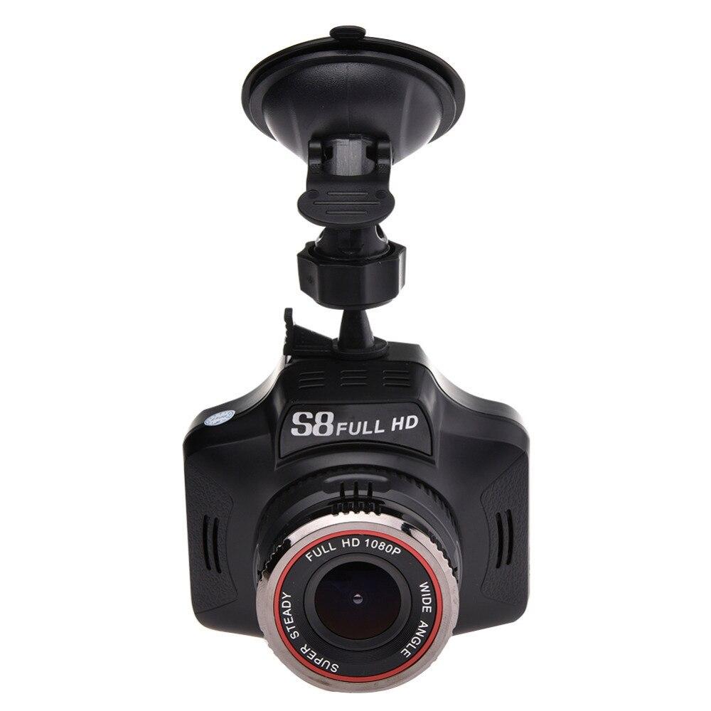 Détecteur de Radar vocal de voiture 2 en 1 détecteur Anti-Radar universel de caméra DVR de voiture détecteur de débit enregistreur de conduite g-sensor