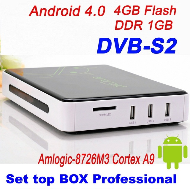 2013 Free Shipping DVB S2  Android 4.0 TV BOX Google TV Box IPTV reciever hd satellite receiver  WiFi HD 1080P ARM Cortex A9
