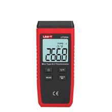 UNI T UT320A UT320D مصغرة نوع الاتصال المزدوج قناة K/J مقياس الحرارة ميزان الحرارة الحرارية الخلفية الحفاظ على البيانات