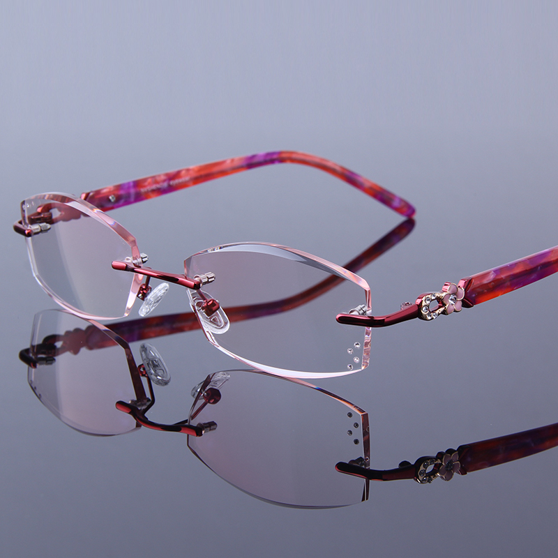 30b2b0859795 Detail Feedback Questions about Women Reading Glasses Laides Presbyopic Eyeglasses  Female Optical Hyperopia Clear Rimless Rhinestone Women s Red Frames ...