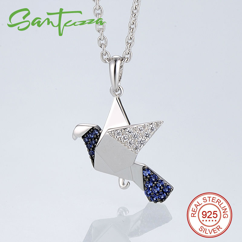 Silver Dove Pendant Fit For Necklace Chain Bird Peace Dove Woman Pendant Solid 925 Sterling Silver
