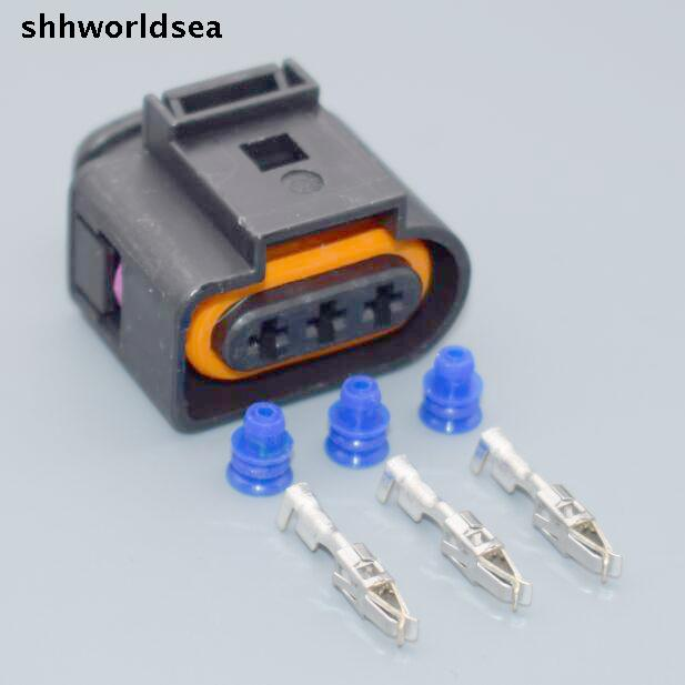 shhworldsea 5sets 3 PIN PLUG 1J0973723 CONNECTOR case for VW AUDI 1J0 973 723