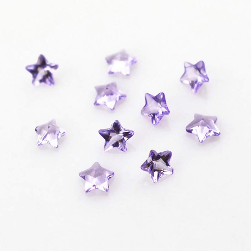 New Arrival 100pcs Birthstone Lavender Crystal Star Floating Charms Living Resin Memory Lockets Pendants DIY Jewelry Charm in Charms from Jewelry Accessories