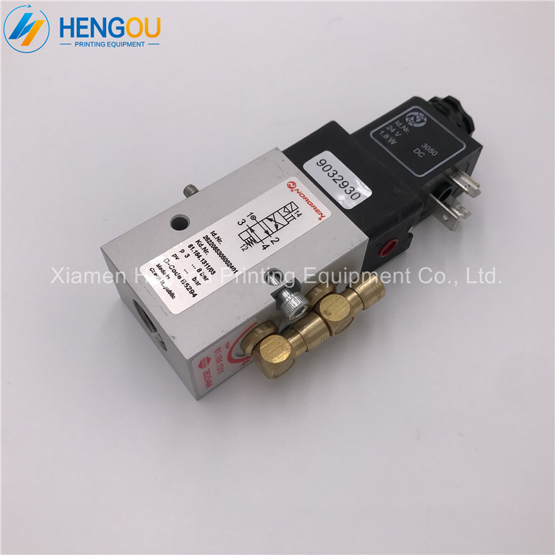 цена на 1 piece China post free shipping heidelberg machine 24V DC valve 61.184.1311 for SM52 SM74 SM102