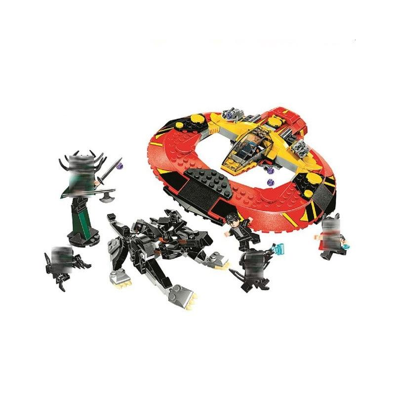 Bela 10747 Super Heroes the Ultimate Battle for Asgard building blocks DIY Educational bricks toys for children Compatible 76084
