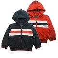 Niños casual chaquetas Marca rompevientos chicos 2016 nueva Primavera niños prendas de abrigo boy capa Encapuchada niños chaquetas para 2-6 años de edad