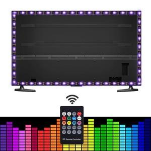 Image 4 - 5050 rgb usb led ストリップセット 20Key と rf リモート led 音楽コントローラー usb led ライトストリップのためのテレビの背景ランプリボン led テープ
