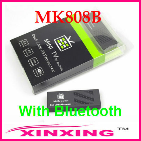 [Factory In Stock] MK808B Bluetooth Mini PC RockChip RK3066 Dual Core Cortex-A9 1.6GHz 1GB / 8GB Android 4.1.1 Free Shipping