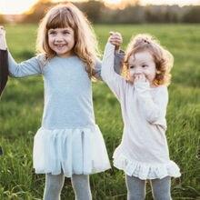 Fmaily/одежда; толстовки с капюшоном для дочки; серая пряжа; повседневный топ с длинными рукавами для девочек; хлопковая детская одежда