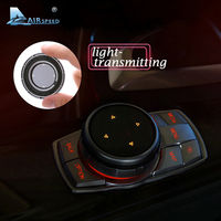 ABS Car Multimedia Buttons Cover Light Transmitting Stickers For BMW X1 X3 F25 X5 F15 X6