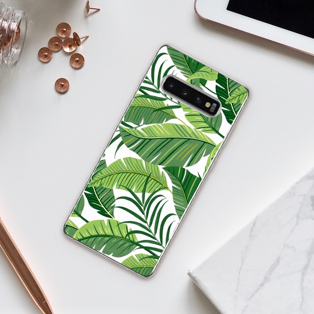 Cellphones & Telecommunications Forceful Eleteil Green Leaves Case For Samsung S8 S9 S9 S10 Plus Plants For Samsung S7 S8 Plus Shockproof Tpu Silicone Back Cover E40