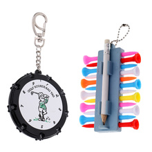 18 Holes Golf Stroke Counter Scoring Bag Tag With Golf Tees Holder Set Include Tees Divot Tool Ball Marker and Score Pencil