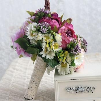 Wedding bouquet bride holds flower wedding dress to shoot photo-realistic imitation flower fake flowers Free Shipping