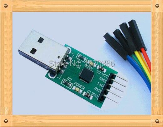 Бесплатная доставка! 5 шт. USB к TTL модуль/CP2102 модуль/STC микроконтроллер загрузчик/жесткой щеткой линия (отправить dupont линия)