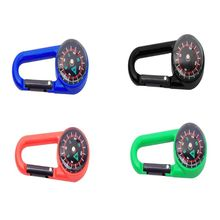 Sturdy Plastic Compass Keychain Waterproof Pocket Size Key Ring Decor Outdoor Camping Gear Adventure Survival Accessory