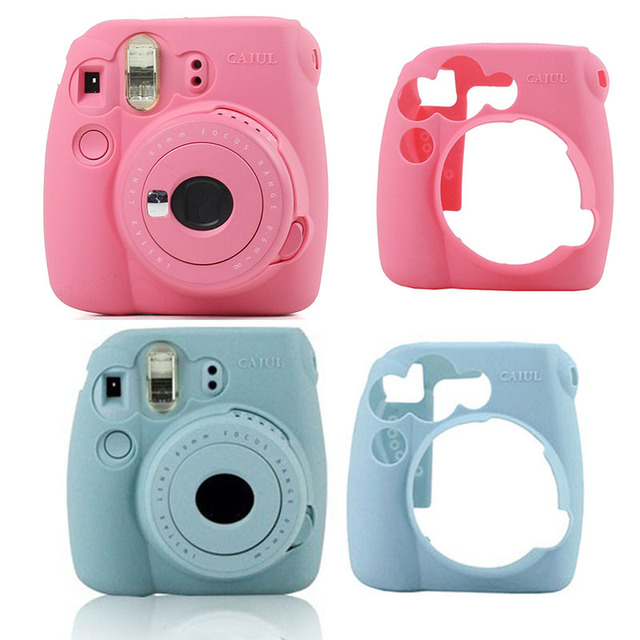 outlet store 5f0ae 5c6e6 US $3.51 12% OFF|Hot Selling Instant Camera Bag Case for Fujifilm Instax  Mini 9 Mini 8 8+ Case Classic Noctilucent Jelly Colors Camera Skin Cover-in  ...