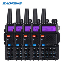 BaoFeng Walkie Talkie UV 5R, versión actualizada de Radio bidireccional, uv5r 128CH 5W VHF UHF 136 174Mhz y 400 520Mhz