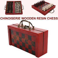 Retro Chess Wooden International Chess Chinese Retro Chess Qing Dynasty Soldiers Wooden Terracotta Warriors Kill Time