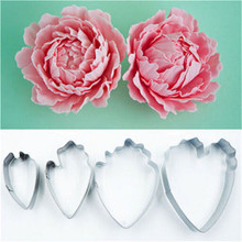 Dropshipping Peony Shaped Cake Silk Flower Mould Mold Stainless Steel