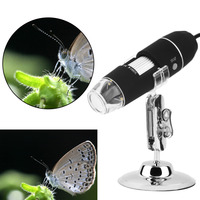 Mega Pixels 8 LED 1000X USB Digital Microscope Endoscope Magnifier Video Camera Stand Z P4PM Free