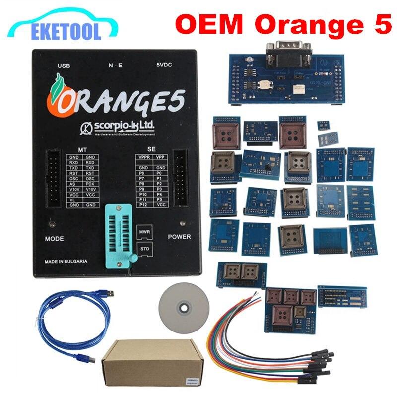 2018 Новый OEM Orange5 с полным адаптером Professional Full Packet Hardware + Enhanced function Software Orange 5 с русским