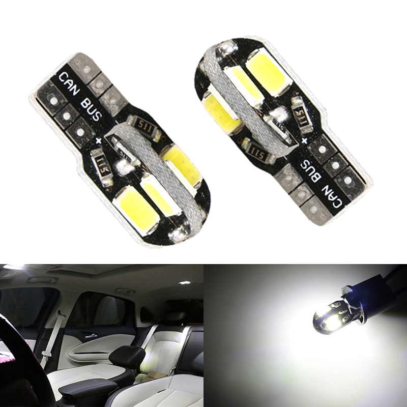 2pcs T10 194 5630 5730 led Canbus Error Free auto Clearance Lights W5W 8smd Car Wedge Tail Side Light reading lamp NO ERROR dali sub k 14 f black
