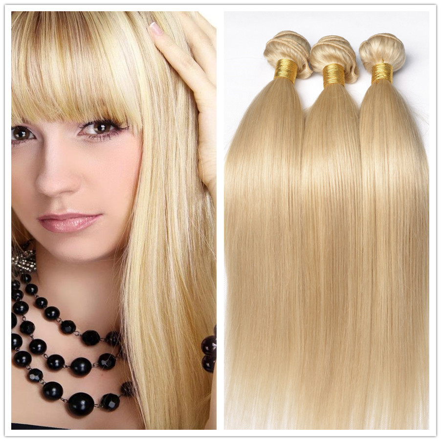 Honey Blonde Brazilian Hair Straight 4 Bundles Honey Blonde Virgin