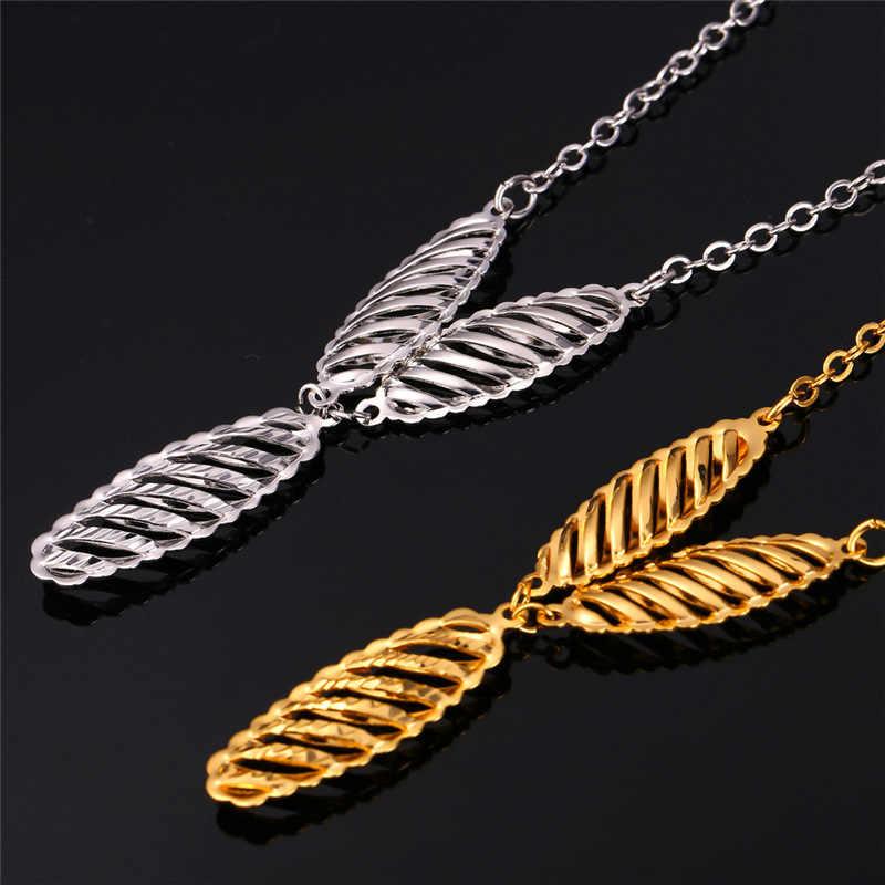Kpop wisiorek naszyjnik złoty/srebrny kolor koniczyny wzór Stereo Trendy moda biżuteria dla kobiet akcesoria N202