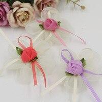 El yapımı Kawaii Şifon Çiçek DIY Takı Malzemesi Şerit Gül Çiçek Craft Fit Kızlar Saç Klipleri Bandı Giysi Süsleme