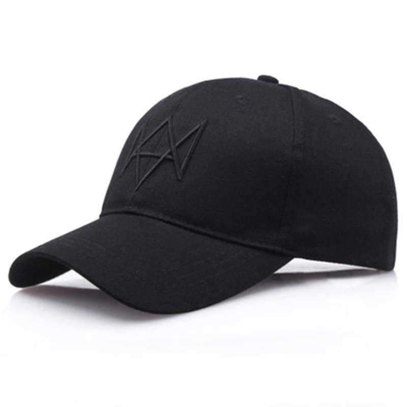 watch dog   baseball     cap   3D bone embroidery snapback hat cotton adjustable women curved sun hat men outdoor sports hats wholesale