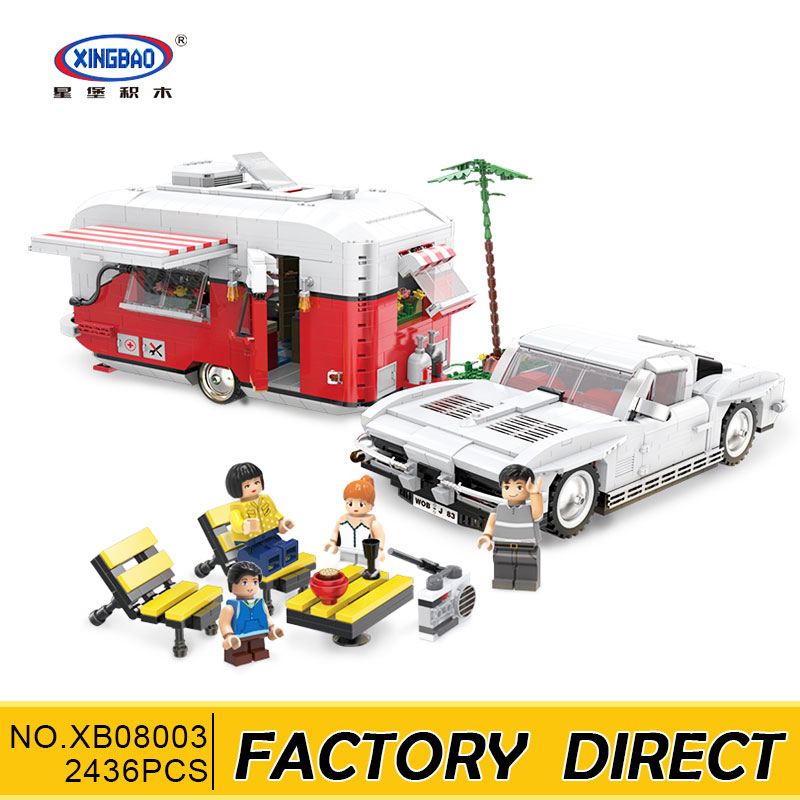 XingBao 08003 2436Pcs New Creative Series The MOC Camper Set Children Educational Building Blocks Bricks Toys Model Boys GiftsXingBao 08003 2436Pcs New Creative Series The MOC Camper Set Children Educational Building Blocks Bricks Toys Model Boys Gifts