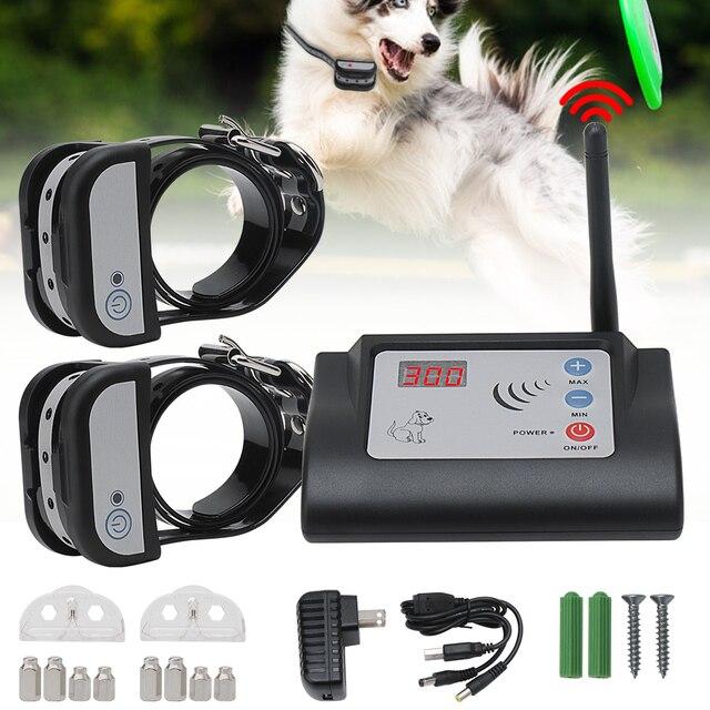 אלחוטי חשמלי כלב גדר חיצוני לחיות מחמד כלב אימון צווארון עמיד למים נטענת משדר מקלט הבלימה חיית מחמד