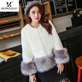 HONGZUO Brand 2016 New Fashion Women Faux Mink Fur Coat Winter Thick Warm Faux Fox Fur Long-sleeve Short Coat Jacket PC184