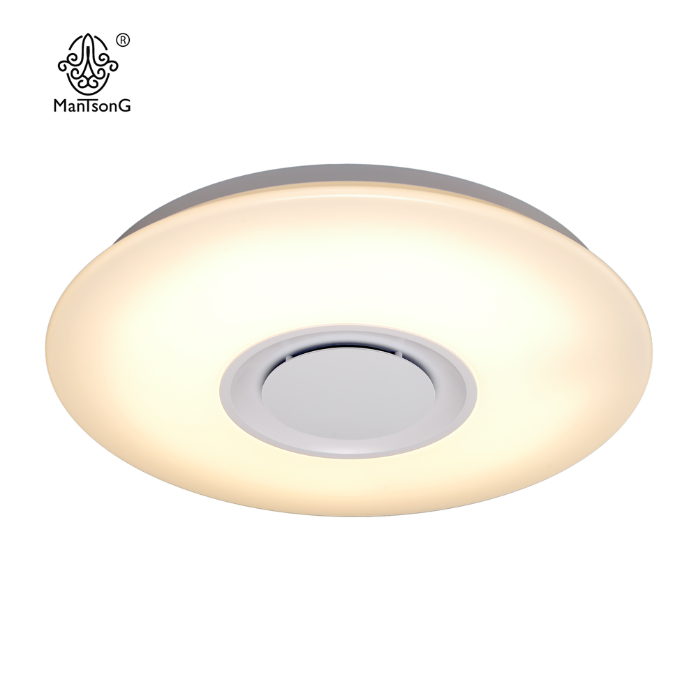LED MUSIC ceiling lamp 24 W 40 mm ideal modern white indoor round suitable for home light living room bedroom dining room
