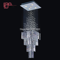 Hot Sales100 Guaranteed Flush Mount Rectangular Contemporary Crystal Chandelier Modern Home Lighting L500 W500 H1800mm