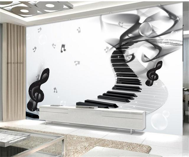 Free Shipping 3D Music Piano Background Wallpaper Restaurant Hotel Bedroom Living Room Coffee Shop Mural