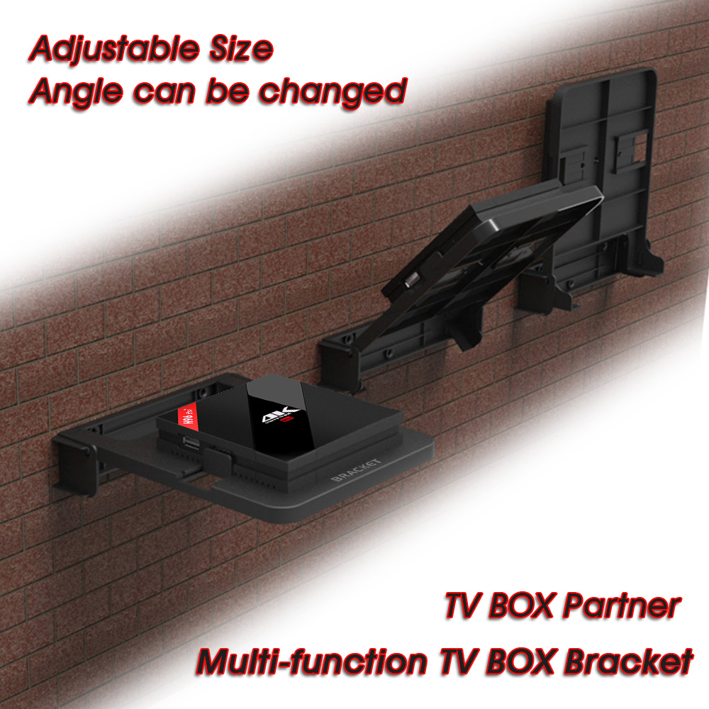 H96 Pro Android Tv Box Bracket Set Top Box Holder Single Space Shelf For Storage Holders & Racks Wall Mount Storage