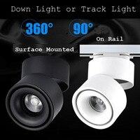10 pz/lotto 15 W 20 W COB LED Binario Illuminazione Dimmerabile Warm Cool White Guida Luci Spot Dimmerabile AC110V/220 V