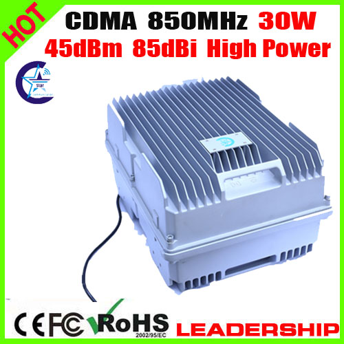 High Power 30Watts CDMA <font><b>850mhz</b></font> 85dbi 45dbm cellular phone signal repeater booster amplifier Ship Tunnel Farm signal construction image