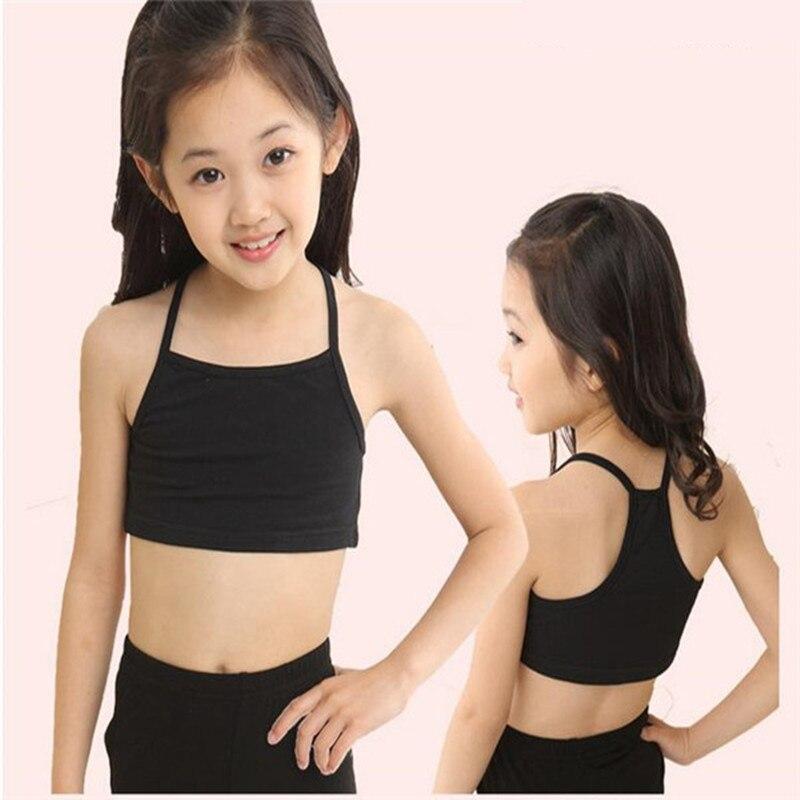 Candy Color Girls Training Bra girl cotton vest child world of tank girls underwear girls tank tops kids clothing models girl