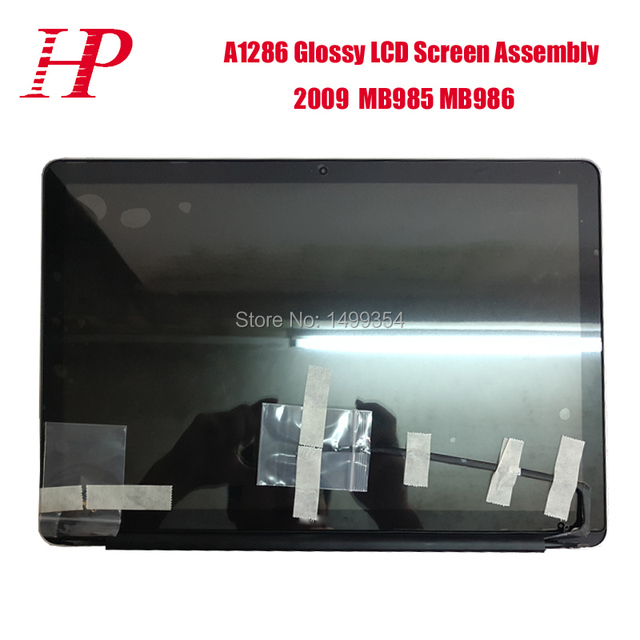 100% testado 15.4 ''glossy lcd led assembléia tela para apple macbook pro 15 ''mid 2009 mb985 mb986