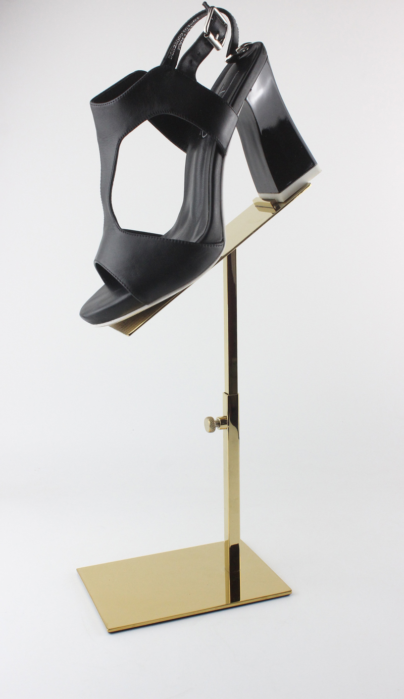 Metal Polished Gold Shoe Display Stand Shoe Riser Stand shoe Bracket Metal Shoe Holder rack mirror silver metal shoe display stand polished shoe rack sandal holder display rack stand shoes holder rack