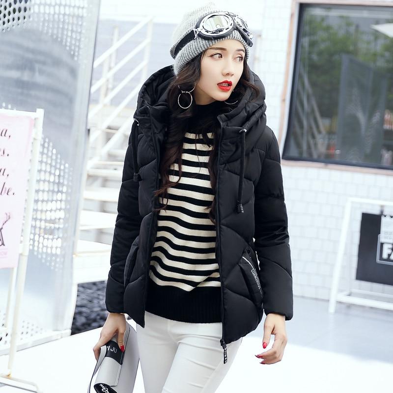 Women Jacket Winter coat 2018 brand womens tops and blouses jaqueta feminina Cotton Thick Zipper Solid color women coat   parkas