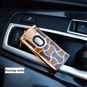 Image 3 - 2017 Nieuwe USB Elektrische Dual Arc Metalen Aansteker Oplaadbare Plasma Aansteker Sigaret Touch Sensing Pulse Cross Thunder Ligthers