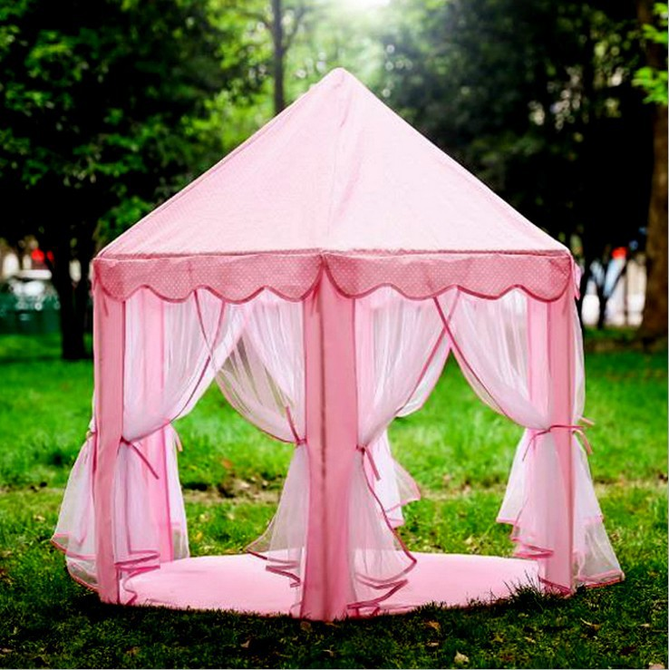 New upgrades Six Korean Angle Princess Castle Gauze Tent House Girl Children Large Indoor Toy Game House Mosquito best gift genuine leather wallets carving lotus bag purses women long clutch vegetable tanned leather wallet mother s day gift